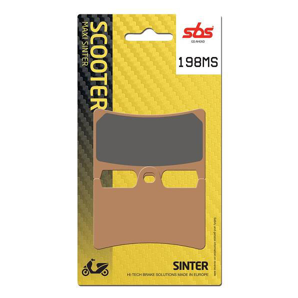 SBS FRONT • REAR SCOOTER BRAKE PADS - 198 MS