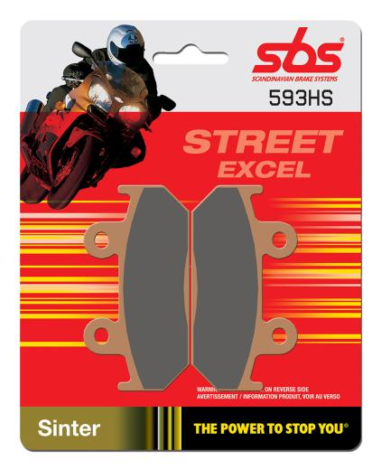 Get it delivered to your door - SBS FRONT BRAKE PADS - 593HS - 510 (EGP)