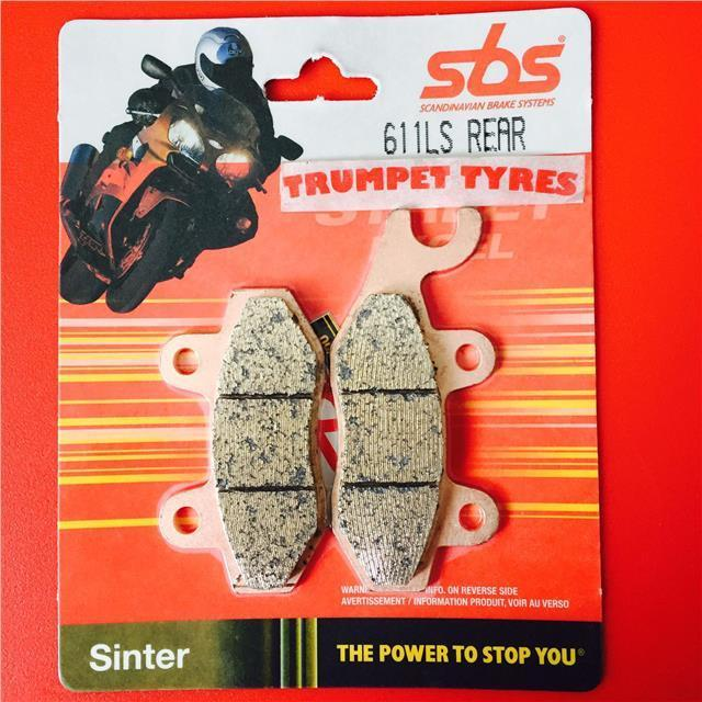 SBS REAR BRAKE PADS - 611LS