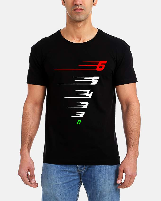 Get it delivered to your door - T-SHIRT FACTORY 6 5 4 3 2 N T-Shirt - 120 (EGP)