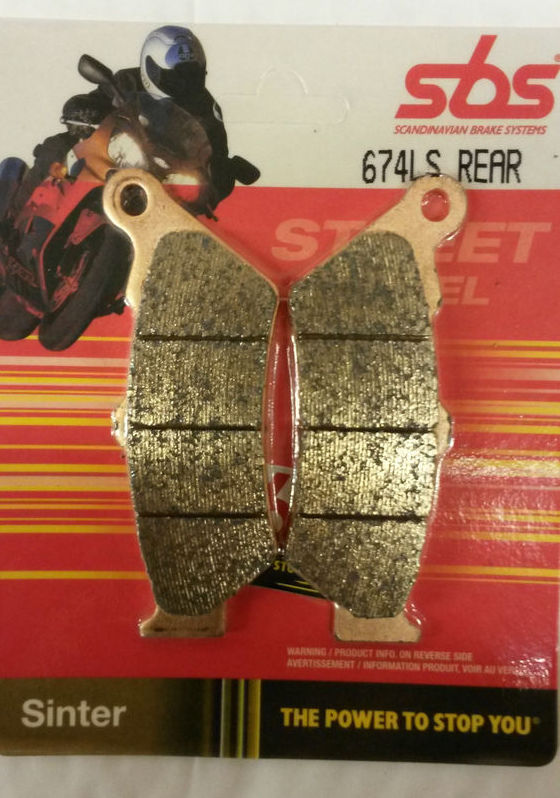 Get it delivered to your door - SBS REAR BRAKE PADS - 674LS - 575 (EGP)
