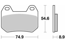 SBS REAR BRAKE PADS -  746HF