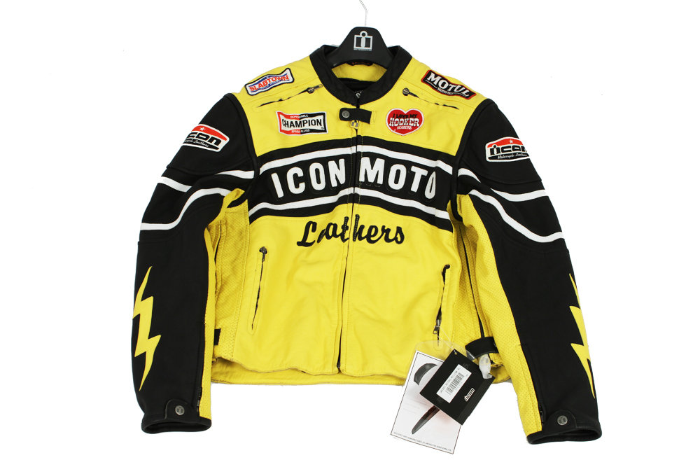 Icon  - Jacket - Leather Jacket for Superbikes Riding