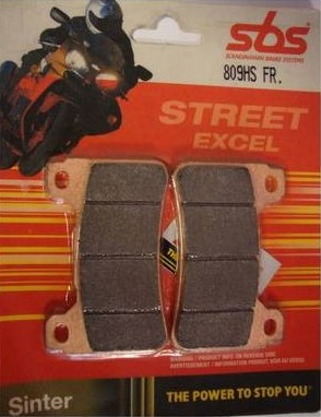 Get it delivered to your door - SBS FRONT BRAKE PADS - 809HS - 540 (EGP)