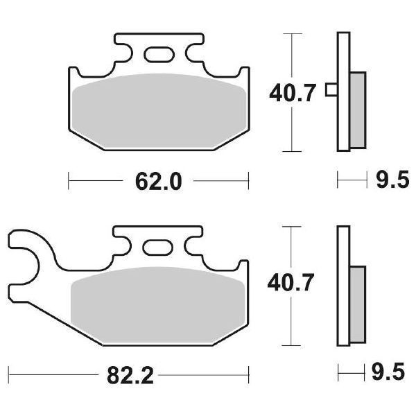 SBS REAR BRAKE PADS -  816SI