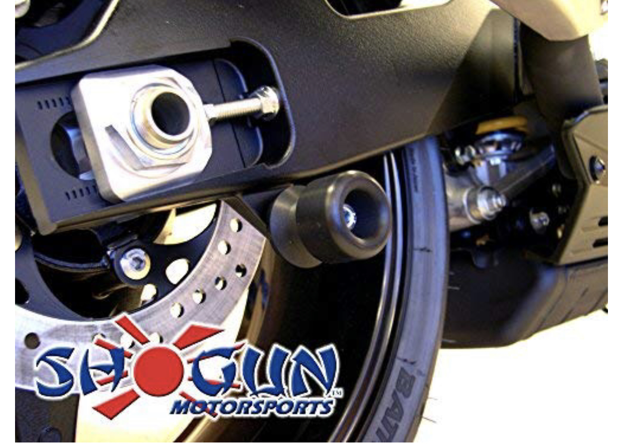 Shogun - Bodywork - Frame Slider Kit; Includes: Frame Sliders, Swing Arm Spools and Bar Ends