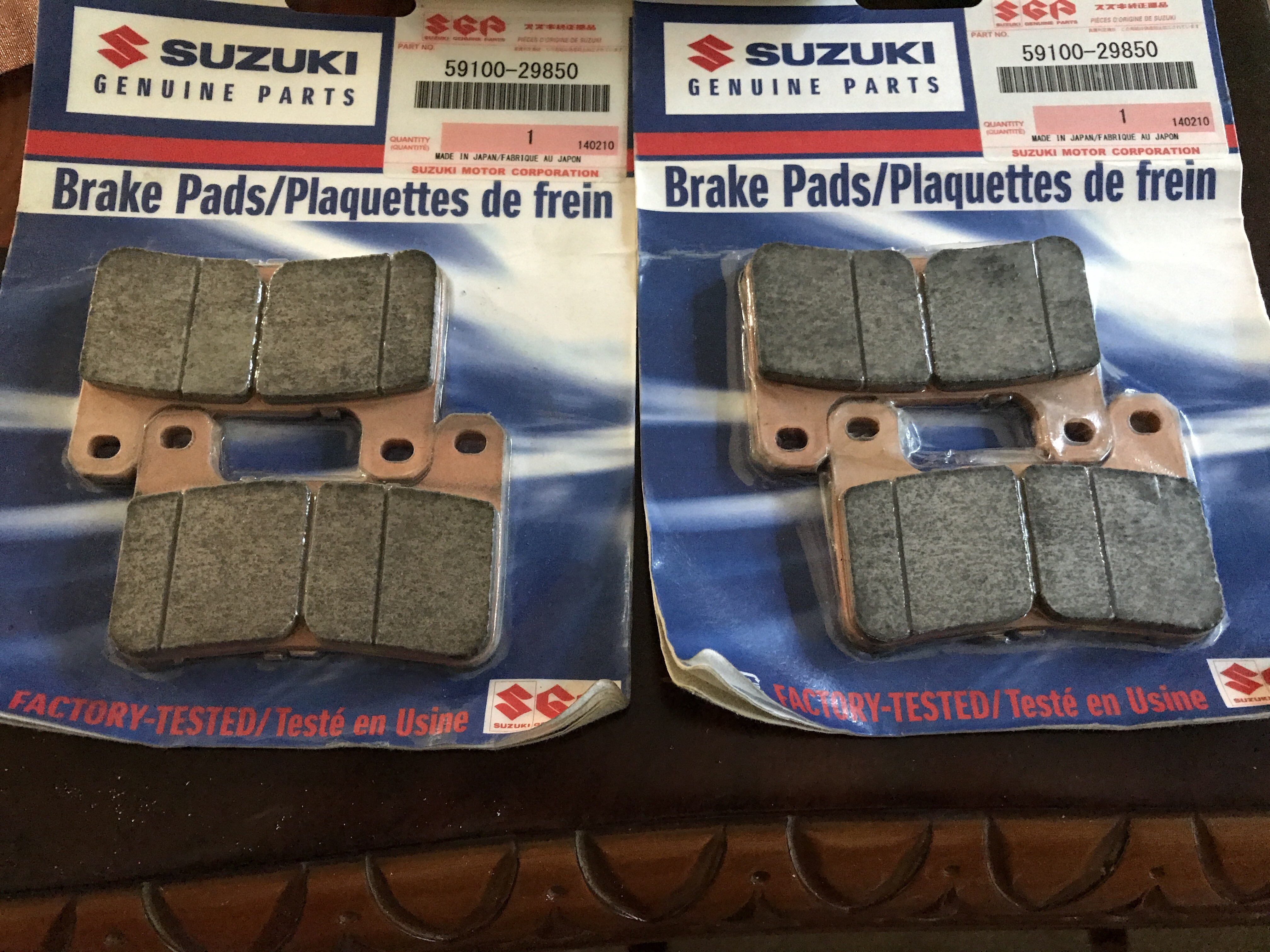 FOR SALE - NEW Suzuki M109R front Brake Pads - Suzuki