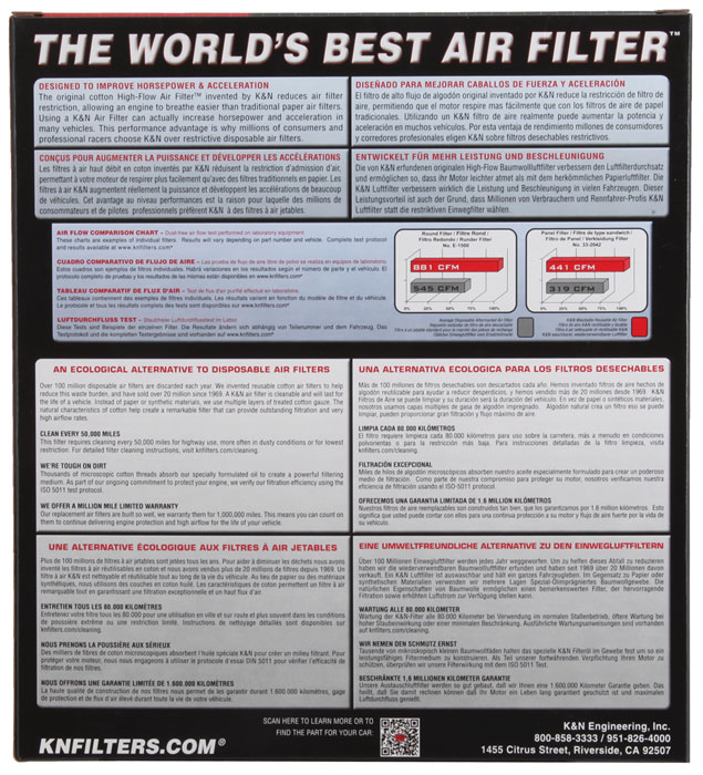 K and N - Filters - YA-6006 Air Filter