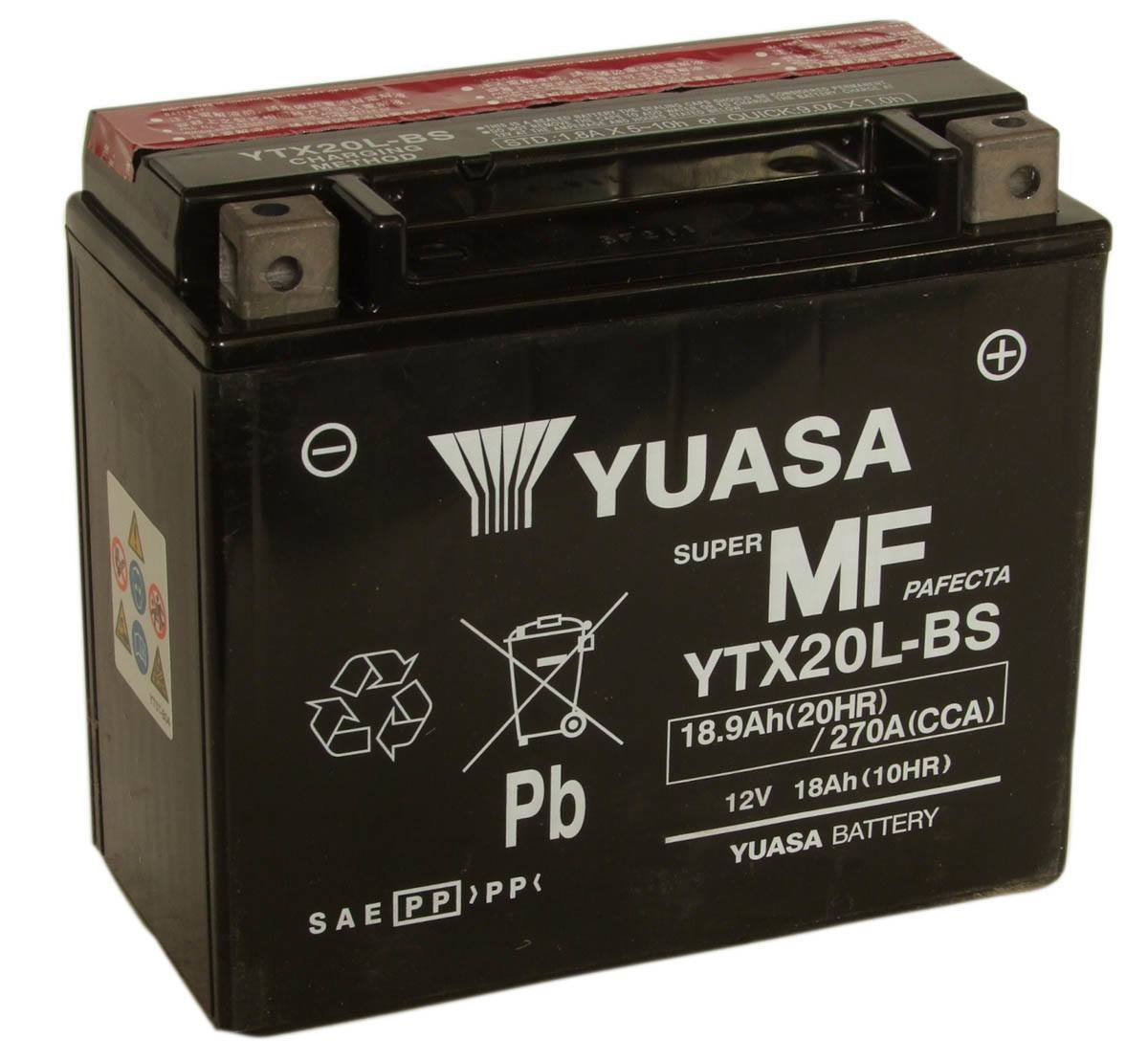 Get it delivered to your door - Yuasa YTX20L-BS Battery (USA) - 2500 (EGP)