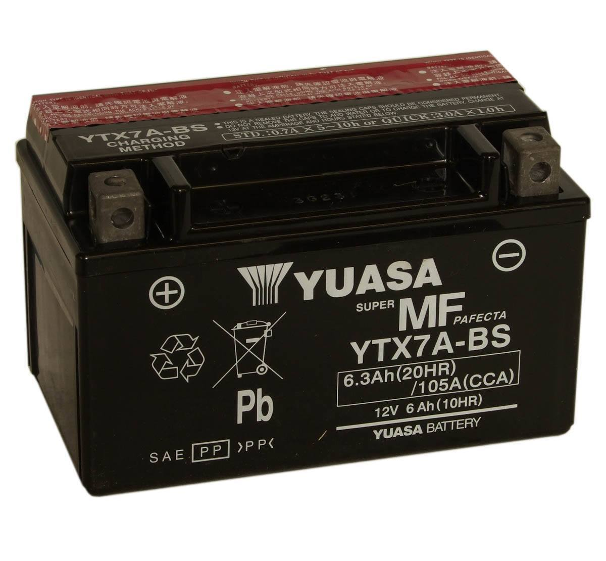 Get it delivered to your door - Yuasa YTX7A-BS Battery (Taiwan) - 955 (EGP)