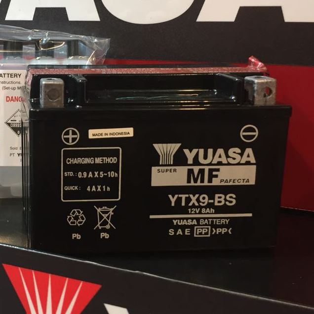 YUASA YTX9-BS Battery (Indonesia)