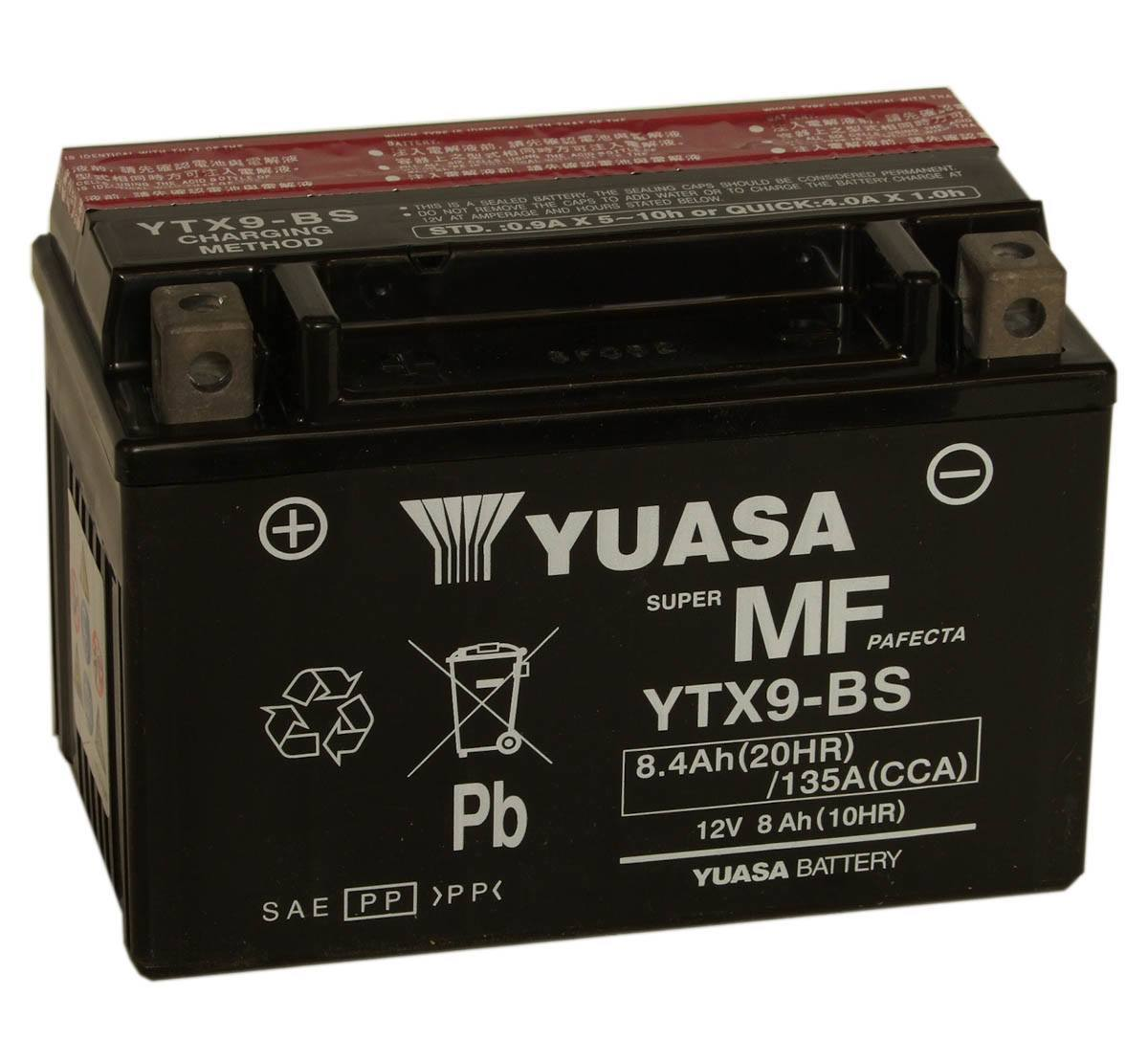 Get it delivered to your door - Yuasa YTX9-BS Battery (USA) - 1970 (EGP)