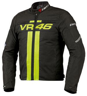 NEW-Dainese VR46 Valentino Rossi Textile Motorcycle Jacket Black  for Sale