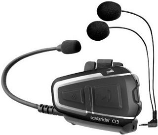NEW-Cardo Q3 Bike To Bike Intercom with FM Radio Scala Rider Communication Head Set Accessories - Black for Sale