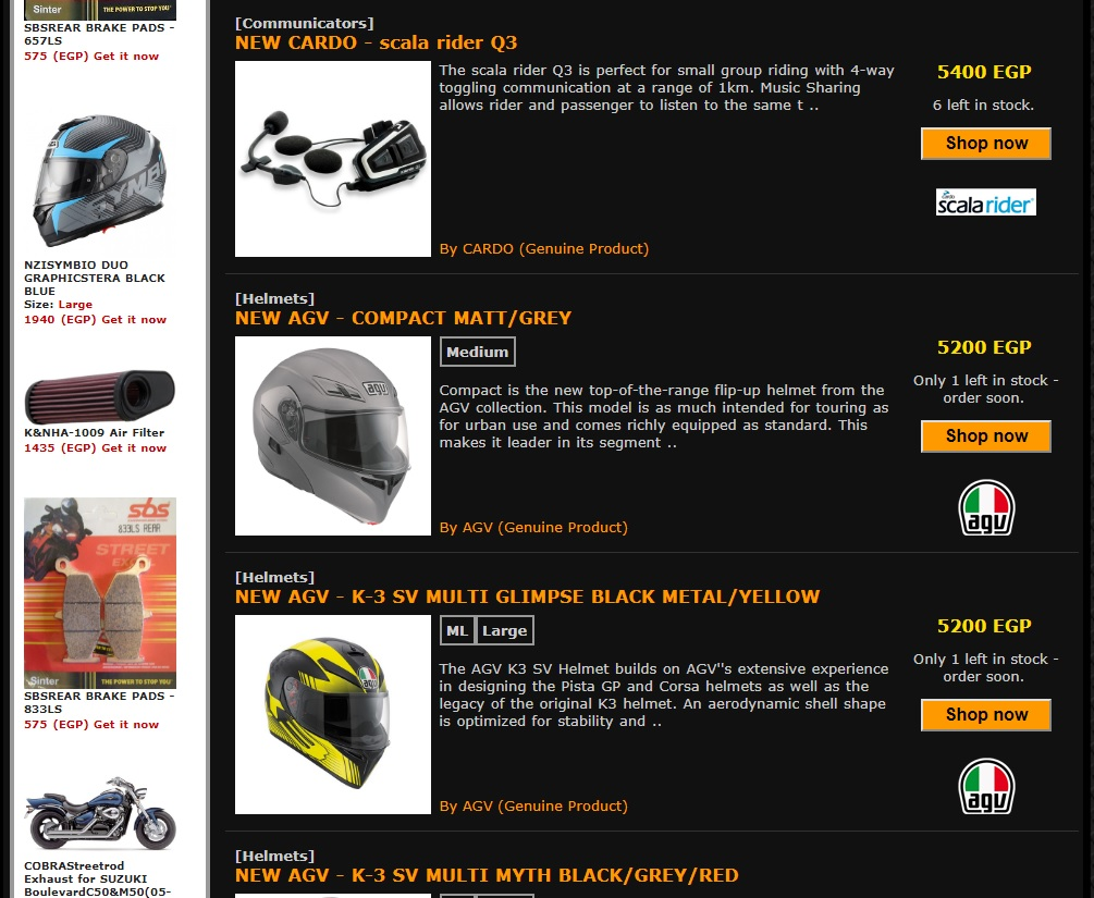 egybikers.com Launched Their New Online Store.