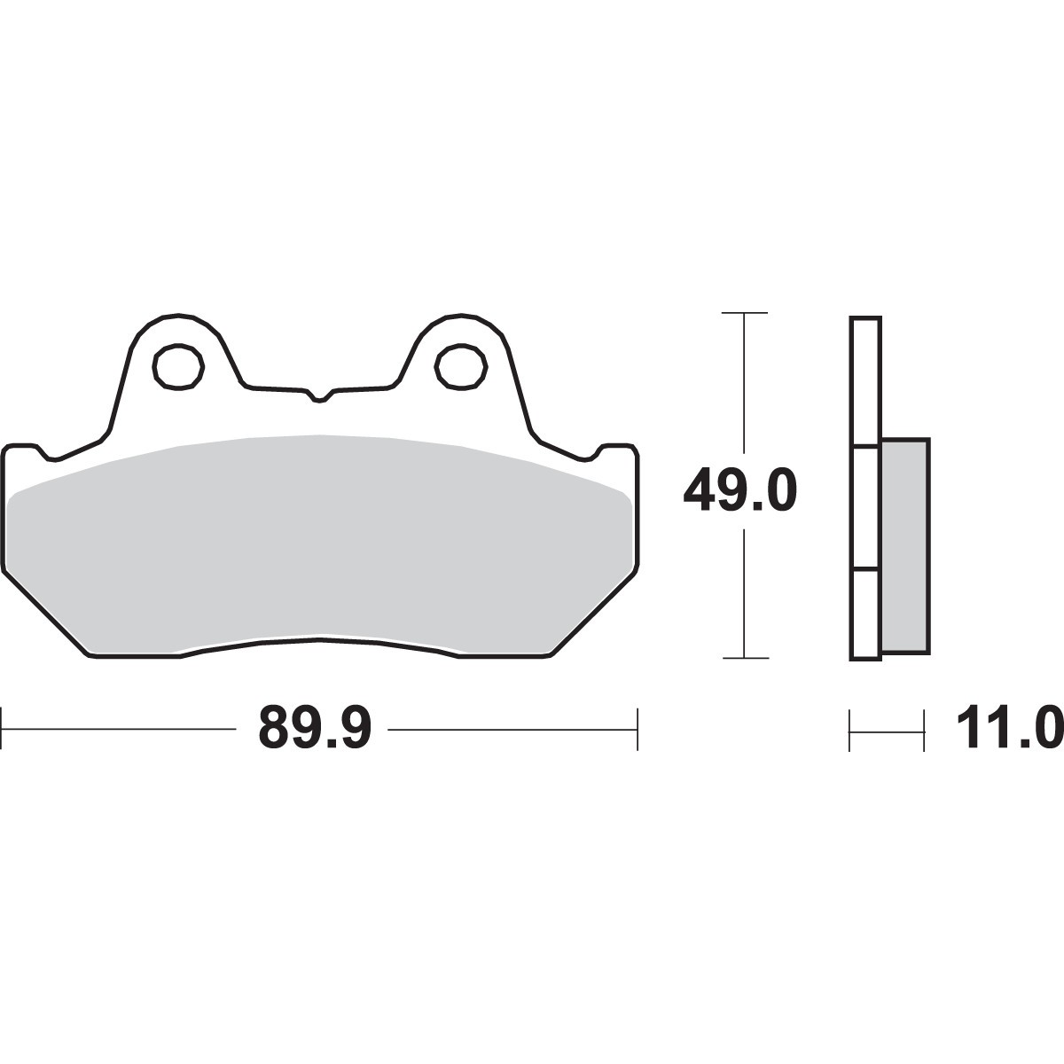 SBSBrake Pads/Rotors - 542 LS (REAR)