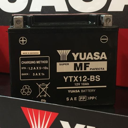 Get it delivered to your door - YUASA YTX12-BS (Indonesia) - 1100 (EGP)