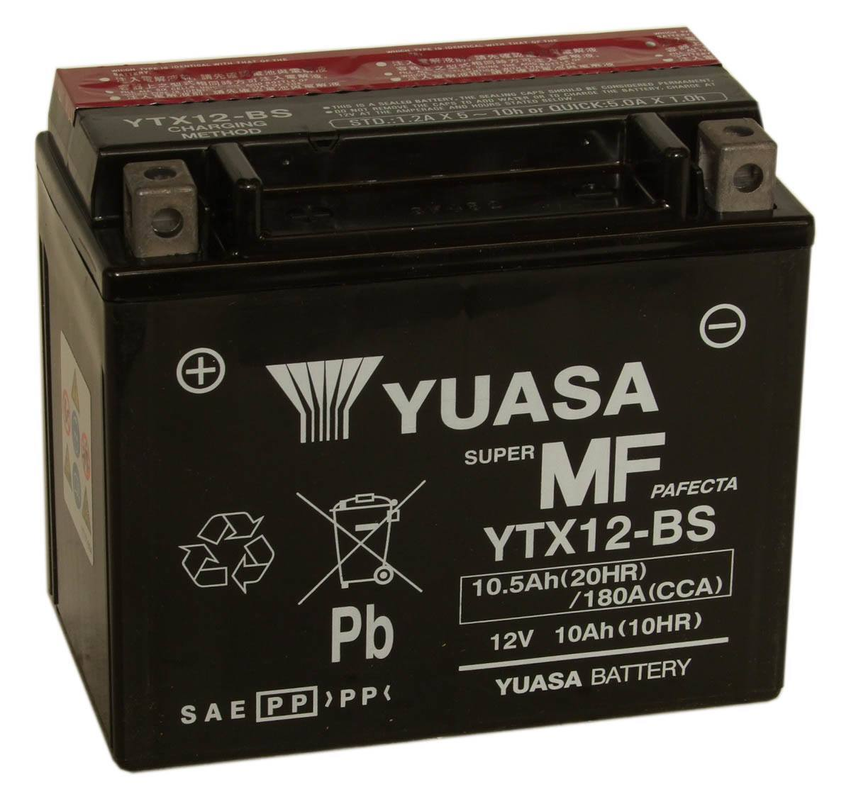 Get it delivered to your door - Yuasa YTX12-BS (USA) - 2100 (EGP)
