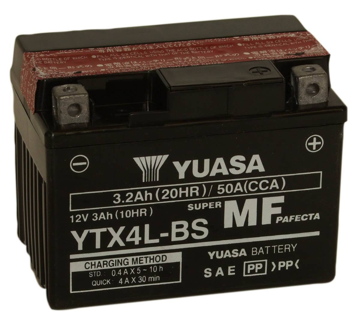 Get it delivered to your door - Yuasa YTX4L-BS (Taiwan) - 475 (EGP)
