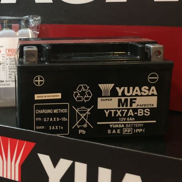 Get it delivered to your door - YUASA YTX7A-BS (Indonesia) - 625 (EGP)